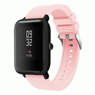 Розовый силиконовый ремешок для спортивных часов Xiaomi Amazfit Bip / GTS 0088-02-6