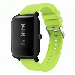Зеленый силиконовый ремешок для спортивных часов Xiaomi Amazfit Bip 0088-02-7