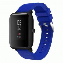 Синий силиконовый ремешок для спортивных часов Xiaomi Amazfit Bip 0088-02-8