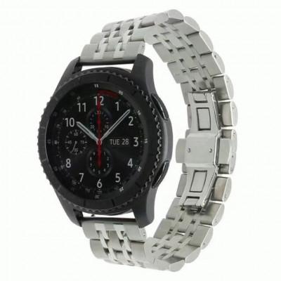 Серебряный металлический ремешок для Samsung Gear S3/Galaxy Watch 46мм 0089-01-1