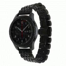Черный металлический ремешок для Samsung Gear S3/Galaxy Watch 46мм 0089-01-2