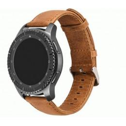Коричневый классический кожаный ремешок для Samsung Gear/Galaxy Watch 42мм-46мм 0090-01-1