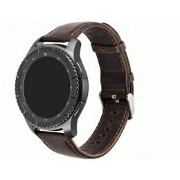 Кофейный классический кожаный ремешок для Samsung Gear/Galaxy Watch 42мм-46мм 0090-01-2
