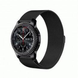 Черный миланский магнитный ремешок для Samsung Gear S3/Galaxy Watch 46мм 0091-01-2
