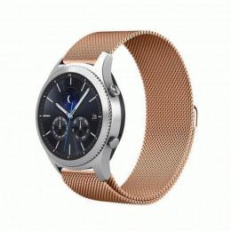 Розовое золото миланский магнитный ремешок для Samsung Gear S3/Galaxy Watch 46мм 0091-01-3