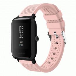 Розовый текстурированный силиконовый ремешок для Xiaomi Amazfit Bip / GTS 0092-02-10