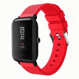 Красный текстурированный силиконовый ремешок для Xiaomi Amazfit Bip / GTS 0092-02-3