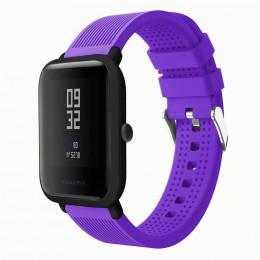 Фиолетовый текстурированный силиконовый ремешок для Xiaomi Amazfit Bip 0092-02-4