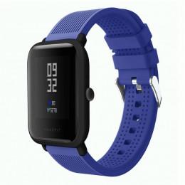 Синий текстурированный силиконовый ремешок для Xiaomi Amazfit Bip 0092-02-7