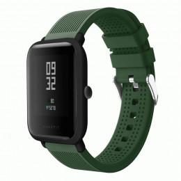 Темно-зеленый текстурированный силиконовый ремешок для Xiaomi Amazfit Bip / GTS 0092-02-9