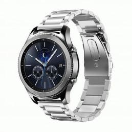 Серебряный металлический ремешок из нержавеющей стали для Samsung Gear S3/Galaxy Watch 46мм 0093-01-1