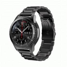 Черный металлический ремешок из нержавеющей стали для Samsung Gear S3/Galaxy Watch 46мм 0093-01-2