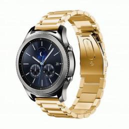 Золотой металлический ремешок из нержавеющей стали для Samsung Gear S3/Galaxy Watch 46мм 0093-01-3