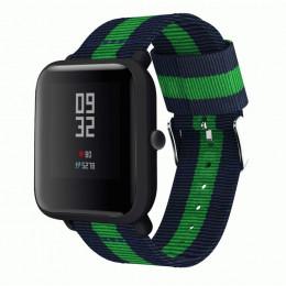 Сине-зеленый нейлоновый полосатый ремешок для Xiaomi Amazfit Bip 0093-02-3