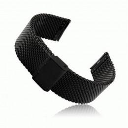 Черный миланский стальной ремешок для Samsung Gear S3/Galaxy Watch 46мм 0095-01-1