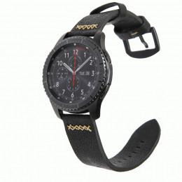 Черный классический кожаный ремешок для Samsung Gear S3/Galaxy Watch 46мм 0098-01-1