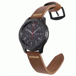 Коричневый классический кожаный ремешок для Samsung Gear S3/Galaxy Watch 46мм 0098-01-2