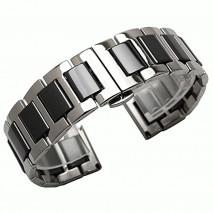 Черный керамический + нержавеющая сталь ремешок для Samsung Gear S3/Galaxy Watch 46мм 0100-01-1
