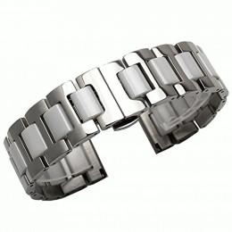 Белый керамический + нержавеющая сталь ремешок для Samsung Gear S3/Galaxy Watch 46мм 0100-01-2