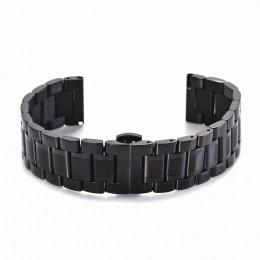 Черный стальной ремешок с застежкой-бабочкой для Samsung Gear S3/Galaxy Watch 46мм 0101-01-1