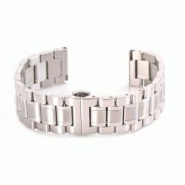 Серебряный стальной ремешок с застежкой-бабочкой для Samsung Gear S3/Galaxy Watch 46мм 0101-01-2