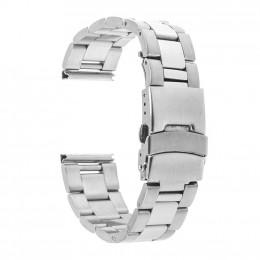 Серебряный металлический ремешок из нержавеющей стали для Samsung Gear S3/Galaxy Watch 46мм 0102-01-1