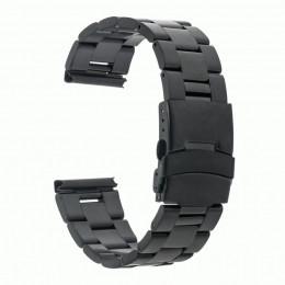 Черный металлический ремешок из нержавеющей стали для Samsung Gear S3/Galaxy Watch 46мм 0102-01-2