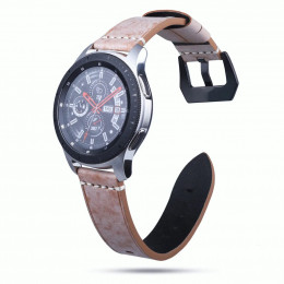 Светло-коричневый классический кожаный ремешок для Samsung Gear S3/Galaxy Watch 46мм 0103-01-2