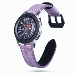 Фиолетовый классический кожаный ремешок для Samsung Gear S3/Galaxy Watch 46мм 0103-01-3