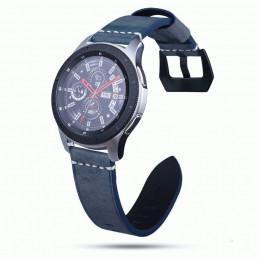 Синий классический кожаный ремешок для Samsung Gear S3/Galaxy Watch 46мм 0103-01-5