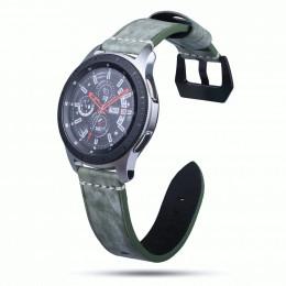 Зеленый классический кожаный ремешок для Samsung Gear S3/Galaxy Watch 46мм 0103-01-6