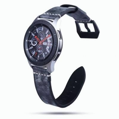 Черный классический кожаный ремешок для Samsung Gear S3/Galaxy Watch 46мм 0103-01-8