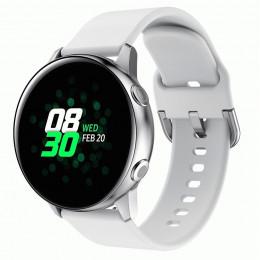 Белый спортивный силиконовый ремешок для Samsung Galaxy Watch 42мм/Gear Sport/Gear S2 Classic 0104-01-1