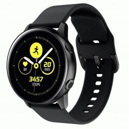 Черный спортивный силиконовый ремешок для Samsung Gear/Galaxy Watch 42мм-46мм 0104-01-4