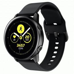 Черный спортивный силиконовый ремешок для Samsung Galaxy Watch 42мм/Gear Sport/Gear S2 Classic 0104-01-4