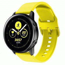 Желтый спортивный силиконовый ремешок для Samsung Galaxy Watch 42мм/Gear Sport/Gear S2 Classic 0104-01-5