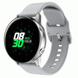 Серый спортивный силиконовый ремешок для Samsung Galaxy Watch 42мм/Gear Sport/Gear S2 Classic 0104-01-6