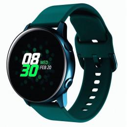 Темно-зеленый спортивный силиконовый ремешок для Samsung Galaxy Watch 42мм/Gear Sport/Gear S2 Classic 0104-01-8