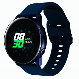 Темно-синий спортивный силиконовый ремешок для Samsung Gear/Galaxy Watch 42мм-46мм 0104-01-9