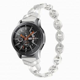 Серебряный металлический быстросъемный ремешок для Samsung Gear/Galaxy Watch 42мм-46мм 0108-01-1