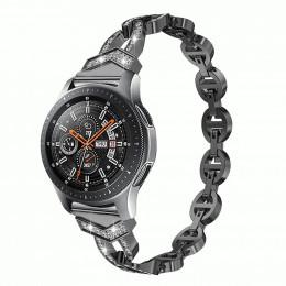 Черный металлический быстросъемный ремешок для Samsung Gear/Galaxy Watch 42мм-46мм 0108-01-2