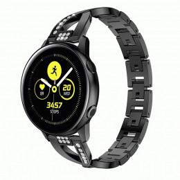 Черный металлический быстросъемный ремешок для Samsung Galaxy Watch 42мм/Gear Sport/Gear S2 Classic 0113-01-1