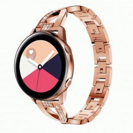 Розовое золото металлический быстросъемный ремешок для Samsung Galaxy Watch 42мм/Gear Sport/Gear S2 Classic 0113-01-2