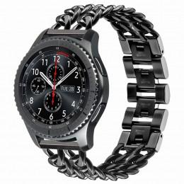 Черный металлический ремешок для Samsung Gear S3/Galaxy Watch 46мм 0114-01-1