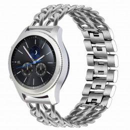Серебряный металлический ремешок для Samsung Gear S3/Galaxy Watch 46мм 0114-01-2