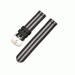 Черно-серый нейлоновый ремешок для Samsung Gear/Galaxy Watch 42мм-46мм 0116-01-3
